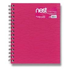 FolderMate Spirálový blok Nest - A5, 120 listů, růžový