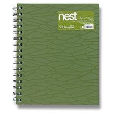 FolderMate Spirálový blok Nest - A5, 120 listů, olivově zelený