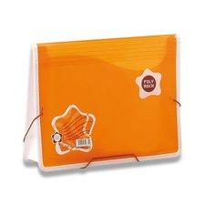 Aktovka na dokumenty Poly Rock - A4, oranžová