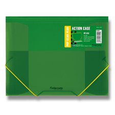 FolderMate Tříchlopňové desky s gumou Pop Gear Plus - A4, zelená