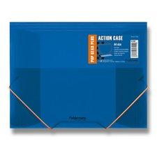 FolderMate Tříchlopňové desky s gumou Pop Gear Plus - A4, modrá