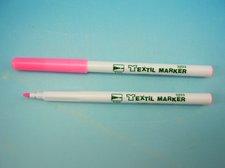 Značkovač na textil fluo růžový
