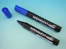 Popisovač permanent modrý