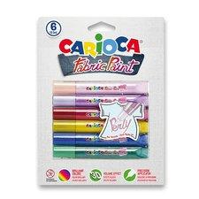 Barvy na textil Universal Pop Fabric Paint - sada 6 barev Pearl