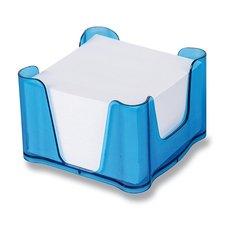 Zásobník Office s papírem - modrý transp., náplň 500 listů