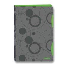 Karton P+P 4kroužkový pořadač Duo Colori - A4, 20 mm, šedá/zelená