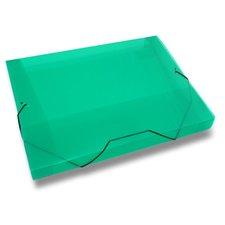Karton P+P PP Transparent - 3chlopňové desky A4, zelené