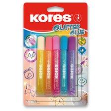 Kores Dekorační lepidlo Glitter Glue - 5 x 10,5 ml, pastelové barvy