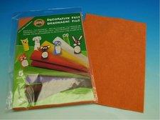 Dekorační filc  - světle oranžový