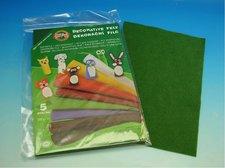 Dekorační filc  - tmavě zelený