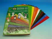 Dekorační filc - mix 10 barev