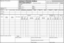 Záznam o provozu nákladní dopravy - puťovka
