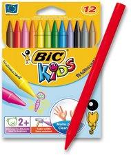 Voskovky BIC Kids Plastidecor, 12 barev
