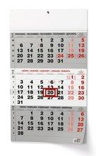 Baloušek Nástěnný kalendář A3  Tříměsíční  s mez. svátky  černý 2022