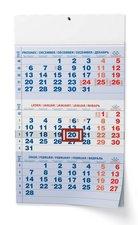Baloušek Nástěnný kalendář A3  Tříměsíční  s mez. svátky  modrý 2022