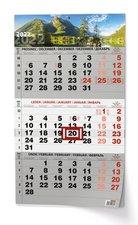 Baloušek Nástěnný kalendář A3  Tříměsíční  s mez. svátky  černý Příroda 2022