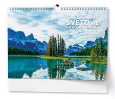 Baloušek Nástěnný kalendář A3  Světové národní parky 2022