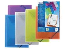 Desky na dokumenty s gumou TRANSPARENT - modré