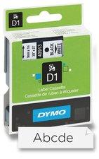 Dymo - samolepicí polyesterové pásky pro štítkovače - 9 mm x 7 m - černá/bílá