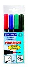 Značkovač Centropen 8516 Permanent sada 4 kusy, šíře stopy 2 - 5 mm