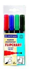 Značkovač Centropen 8550 Flipchart sada 4 kusy, šíře stopy 2,5 mm