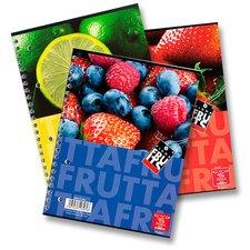 Pigna Fruits kroužkový blok - A4, linkovaný
