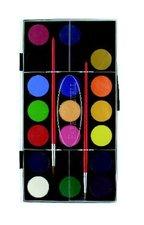 Vodové barvy FABER-CASTELL, průměr 30 mm, 21 barev