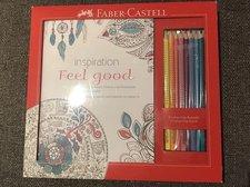 Relaxační omalovánky Faber Castell Feel Good + 8x pastelka Grip