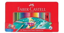 Pastelky Akvarelové Faber Castel šestihranné, dárkový box 60ks