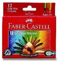 Voskovky FABER-CASTELL , trojhranné, 12 barev