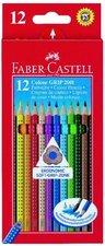 Pastelky FABER-CASTELL Colour Grip 2001, 12 barev