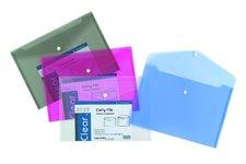 Foldermate Clear - spisovka s drukem - modrá