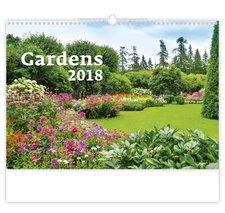 Helma Nástěnný kalendář 2018 Gardens N125