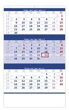 Helma Nástěnný kalendář 2018 Tříměsíční modrý N205