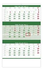 Helma Nástěnný kalendář 2018 Tříměsíční zelený N206