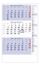 Helma Nástěnný kalendář 2018 Tříměsíční modrý s pozn.N211