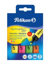 Pelikan  Sada zvýrazńovačů 4 barvy