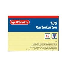 Herlitz Karty do kartotéky A5/100 ks žluté