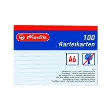 Herlitz Karty do kartotéky A6/100 ks bílé