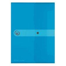 Herlitz Spisové desky s drukem A4 průhledné - modré