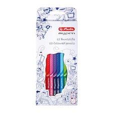 Herlitz Pastelky 12 barev my.pen trojhranné