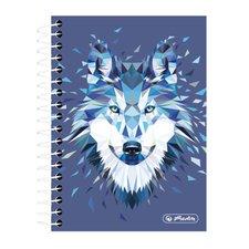 Herlitz Spirálový blok Wild Animals Vlk čtvereček