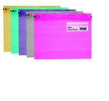 Herlitz Obal se zipem A4 průhledná mix barev