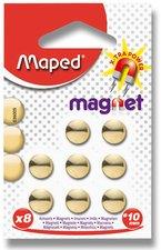 Kulaté magnety Maped - průměr 10 mm - zlaté, 8 ks