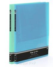 Karton P+P Katalogová kniha A4 PP 20 listů PASTELINI modrá