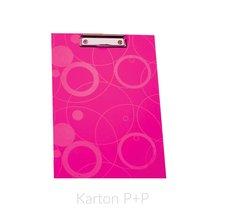 Karton P+P Jednodeska A4 lamino NEO COLORI růžová
