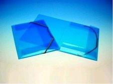 Složka s gumou modrá A4 2-507