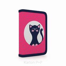 Karton P+P Penál 1 p. s chlopní, naplněný kočka 3-04418