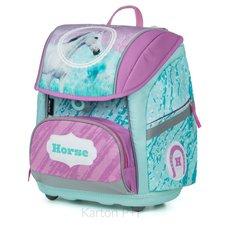 Karton P+P Školní batoh PREMIUM FLEXI kůň romantic