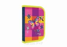 Karton P+P Penál 1 p. s chlopní, naplněný Motýl 3-49518